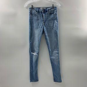 Hollister Jeans Destroyed Jr Size 3S Light Wash